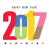 Happy New Year 2017 Calendar Cover Typographic Font Vector illustration. Design Royalty Free Stock Photos