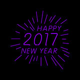 Happy new year 2017 calendar cover, typographic vector illustration. Royalty Free Stock Photo