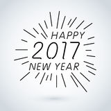 Happy new year 2017 calendar cover, typographic vector illustration. Royalty Free Stock Photos