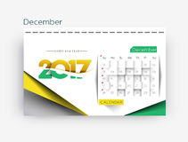 Happy new year 2017 Calendar Design Elements. For holiday cards, calendar banner poster for decorations, Vector Illustration Background Royalty Free Stock Images