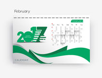 Happy new year 2017 Calendar Royalty Free Stock Photography