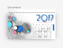 Happy new year 2017 Calendar. New Year Holiday design elements for holiday cards, calendar banner poster for decorations, Vector Illustration Background Royalty Free Stock Image