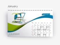 Happy new year 2017 Calendar Stock Photos