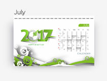 Happy new year 2017 Calendar Stock Photo