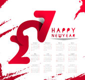 Happy new year 2017 Calendar Royalty Free Stock Images
