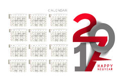 Happy new year 2017 Calendar Stock Photography