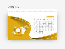 Happy new year 2017 Calendar. New Year Holiday design elements for holiday cards, calendar banner poster for decorations, Vector Illustration Background Royalty Free Stock Photography