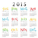 Happy New Year Calendar 2015 Vector. Happy New Year Calendar 2015 Text Vector Stock Photo