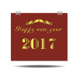 Happy New Year 2017 Calendar. On white background Royalty Free Stock Photography