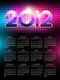 Happy new year calender. Vector colorful happy new year calender design royalty free illustration
