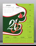 Happy new year 2015 calender design Royalty Free Stock Photo