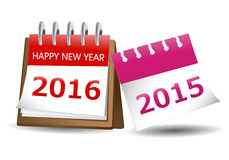 Happy New Year calender 2016 Royalty Free Stock Images