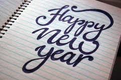 Happy New Year calligraphic background Royalty Free Stock Image