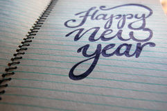 Happy New Year calligraphic background Royalty Free Stock Photography