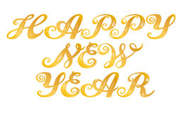 Happy New Year. Calligraphy alphabet typeset lettering. Trended capital  letters. Copy-book hand font. Hand-drawn sketch of ABC  in old fashion vintage style Stock Photo