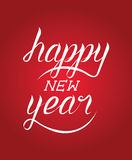 Happy new Year calligraphy Royalty Free Stock Photo