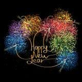 Happy New Year Calligraphy Stock Image