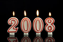 Happy New Year candles 2008 Royalty Free Stock Photo