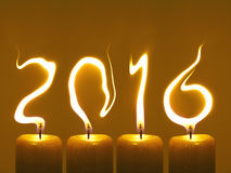 Happy new year 2016 - candles Stock Photo