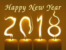 Happy new year 2018 - candles Stock Images