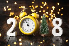 Happy New Year 2018. Card Royalty Free Stock Photography