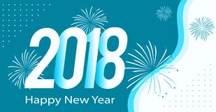 Happy new year 2018. Happy New year Card for 2018 Stock Image