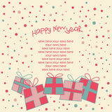 Happy new year card Stock Photos