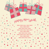 Happy New Year Card Stock Image