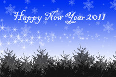 Happy new year card. For 2011 Royalty Free Stock Photography