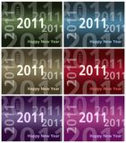 Happy New Year card  - 2011 - Multiple Colors Royalty Free Stock Photography