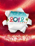 Happy new year card. With 2012 logo stock illustration