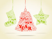 Happy New Year card. Hppy New Year greeting card Royalty Free Stock Images