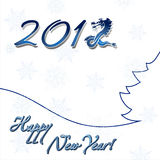 Happy new year card. Vector illustration of New year card on the white background stock illustration
