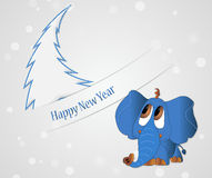 Happy New year card. Original Happy New year card Vector Illustration