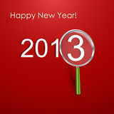 Happy New Year Card. 2013 Vector llustration Royalty Free Stock Photo
