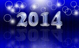 Happy new year. 2014 card Royalty Free Stock Photography
