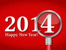Happy New Year 2014. Card Stock Image