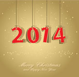 Happy New Year Card Royalty Free Stock Images