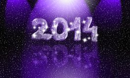 Happy new year. 2014 card Royalty Free Stock Image