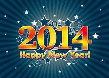 2014 Happy New Year Royalty Free Stock Photography