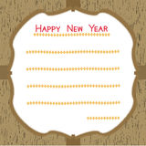 Happy New Year Card1 Royalty Free Stock Photography