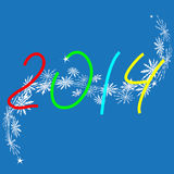 Happy New Year 2014. Card Stock Photos