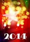 Happy New Year Card. 2014 Stock Photo