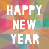 Happy new year 2014 card25. Card for Happy New Year Royalty Free Stock Photo
