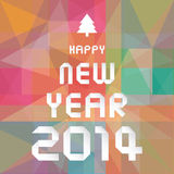 Happy new year 2014 card27. Card for Happy New Year Stock Photography