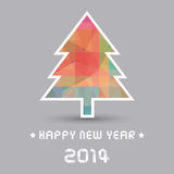 Happy new year 2014 card28. Card for Happy New Year Royalty Free Stock Photos