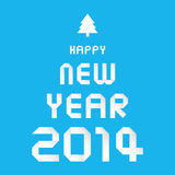 Happy new year 2014 card30. Card for Happy New Year Royalty Free Stock Image