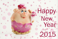 Happy New Year 2015 Card Stock Photo