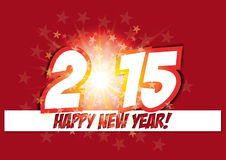 Happy new year card 2015 Stock Image