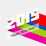 Happy new year 2015. Card Stock Photos